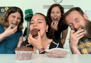 JUSESO Team beim Muffins-Essen 2020
